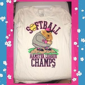 2 for $20: Justice Hampster Softball Tee (Sz 12)